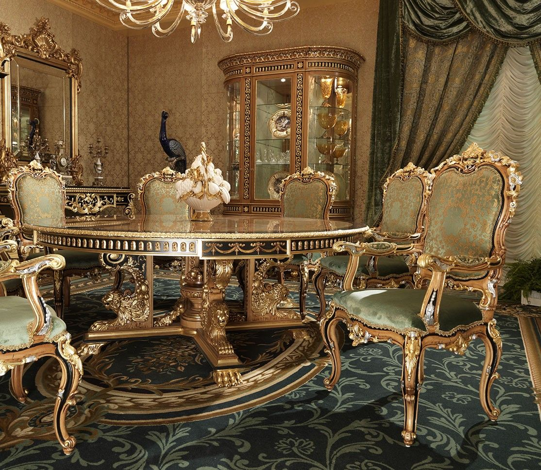 King Louis Dinning Table Chair Type, Dining Room Sets With King Louis Chairs
